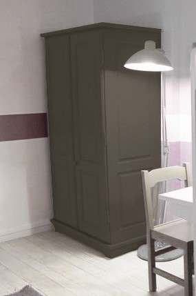 armoire 2 portes bois massif dominique mathy by bols. Black Bedroom Furniture Sets. Home Design Ideas
