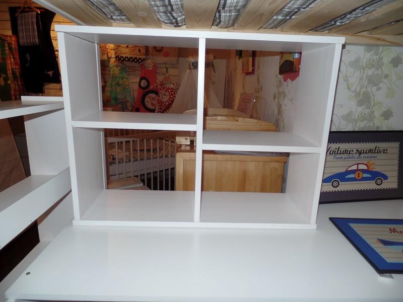 Destockage lit mezzanine haut avec bureau verona highrimn couleurs bois - Lit mezzanine quel age ...