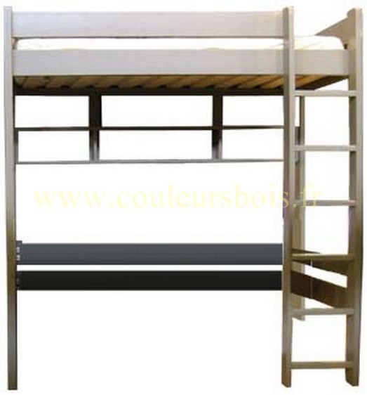 lit mezzanine en bois pas cher maison design. Black Bedroom Furniture Sets. Home Design Ideas