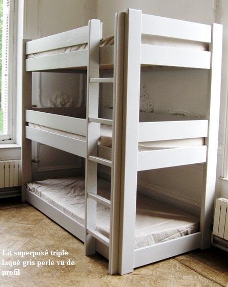 lits enfants superpos s triples dominique mathy by bols mathy by bols 196 90 i b couleurs. Black Bedroom Furniture Sets. Home Design Ideas
