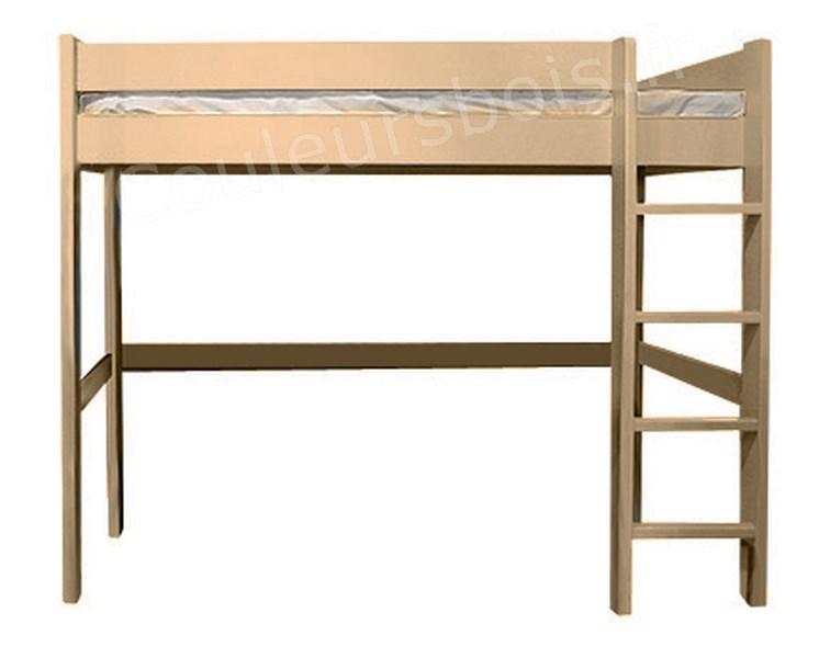 lit mezzanine enfant en bois massif dominique 172 cm mathy by bols. Black Bedroom Furniture Sets. Home Design Ideas