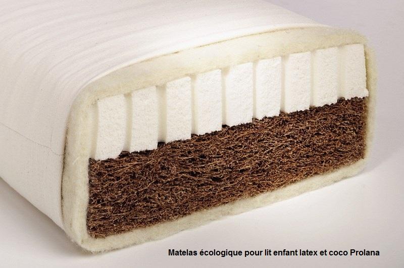 Lit mezzanine enfant en bois massif mathy by bols new classics 129 cm - Matelas ecologique 90x190 ...