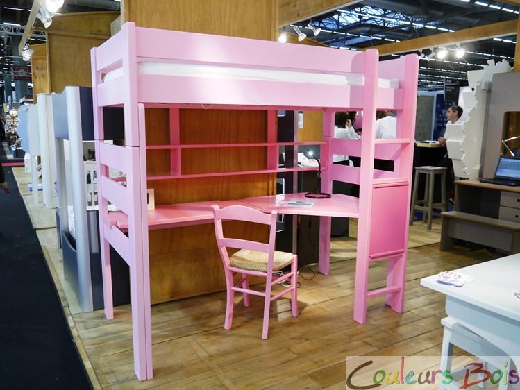 lit mezzanine enfant en bois massif dominique 186 cm mathy by bols. Black Bedroom Furniture Sets. Home Design Ideas
