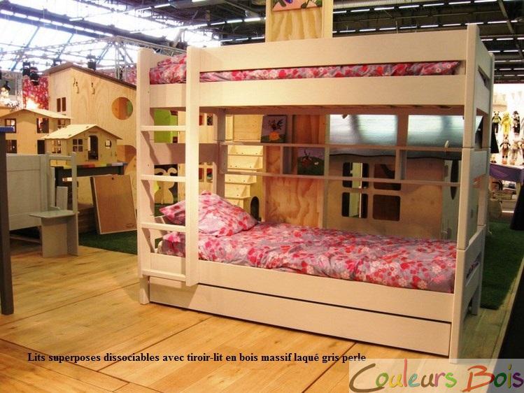 lits superpos s enfants dissociables dominique 166 cm mathy by bols. Black Bedroom Furniture Sets. Home Design Ideas
