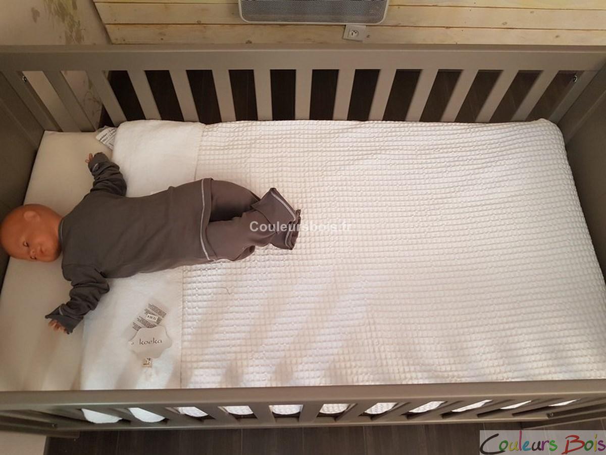 lit b b volutif tilleul 70 x 140 cm mathy by bols. Black Bedroom Furniture Sets. Home Design Ideas