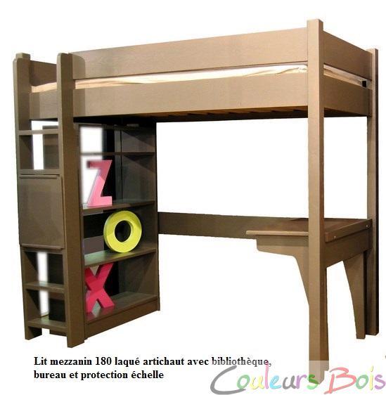 Lit mezzanine enfant en bois massif mathy by bols new classics 178 cm - Lit mezzanine enfant bois ...