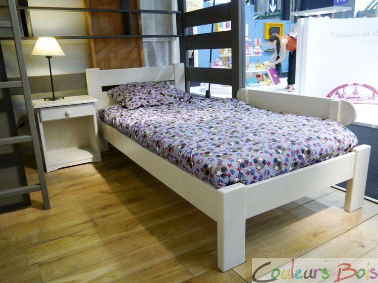 lit adulte en bois massif st phane 180 cm mathy by bols. Black Bedroom Furniture Sets. Home Design Ideas