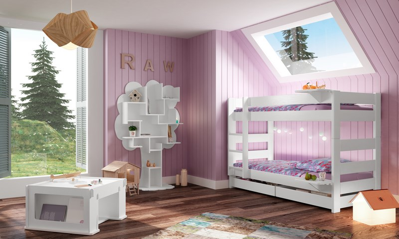 chambre pour enfants avec lits superposes mathy by bols. Black Bedroom Furniture Sets. Home Design Ideas