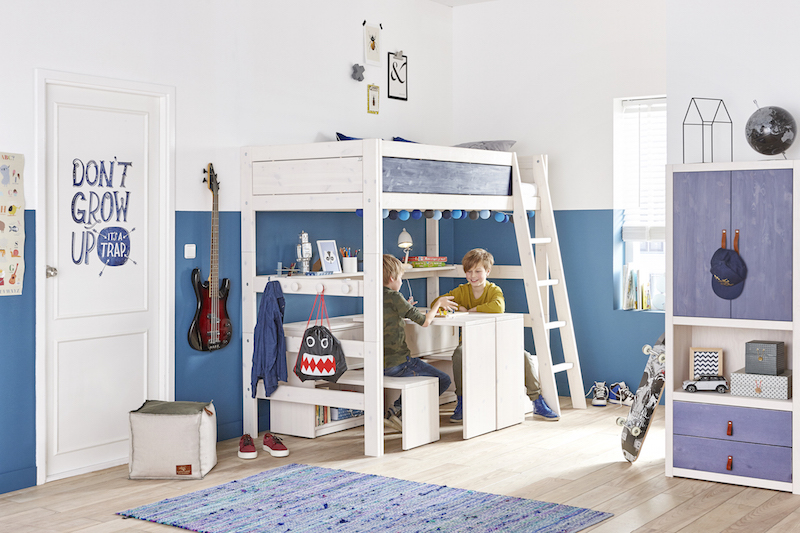 Chambre Enfant Ecologique Avec Mezzanine Et Bureaux Multifonctions Lifetime