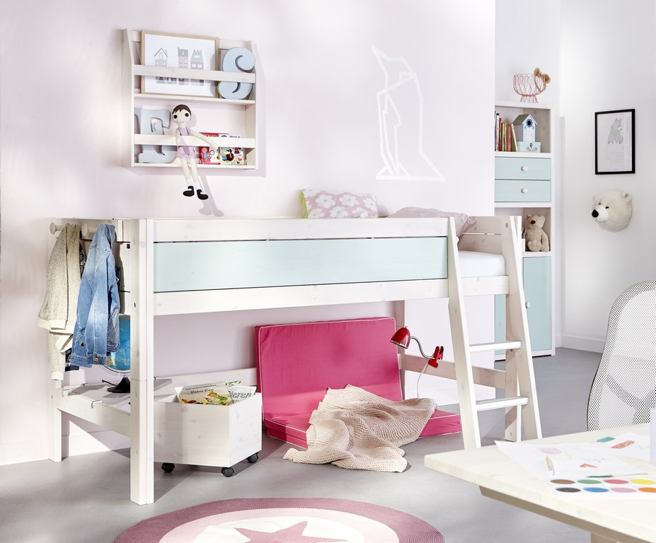 chambre enfant cologique avec lit mi haut lifetime. Black Bedroom Furniture Sets. Home Design Ideas