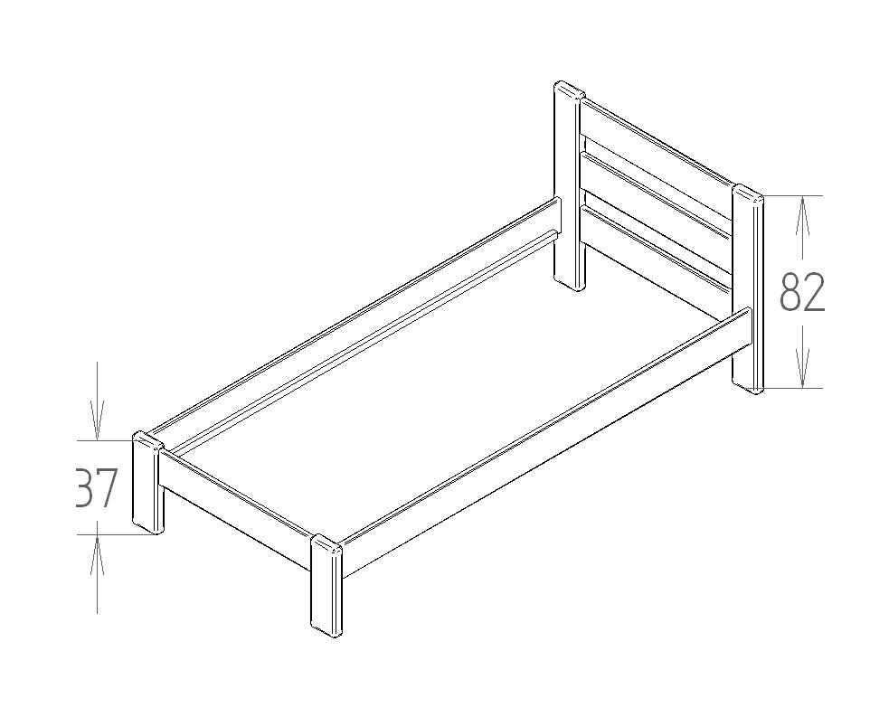 Dimensions du lit enfant Stéphane Mathy by Bols