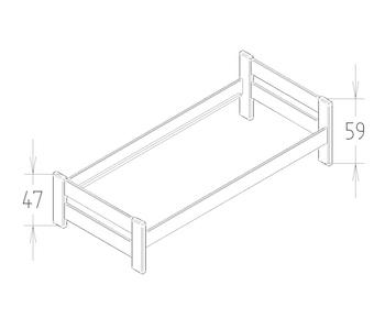 Dimensions du lit enfant Claude Mathy by Bols