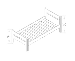 Dimensions du lit enfant New Classis NC2 Mathy by Bols