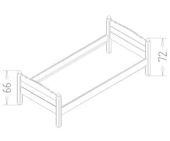 Dimensions du lit enfant Pascal Mathy by Bols