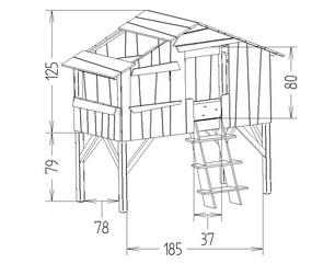 Dimensions du lit enfant cabane Mathy by Bols