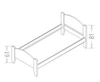 Dimensions du lit enfant tilleul lisb Mathy by Bols