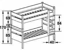 Dimensions du lit superpose 172 separable Mathy by Bols