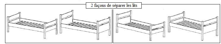 Les 2 façons de séparer les lits du superposé enfant 172 Mathy By Bols