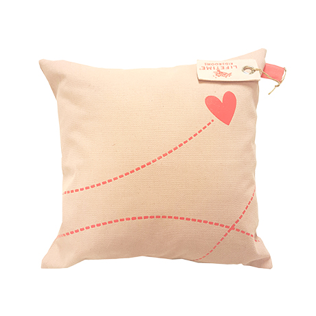 Coussin blush canvas Rose Bonbon Lifetime