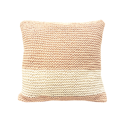 Coussin carré au crochet Rose Bonbon Lifetime