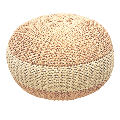 Pouf au crochet Rose Bonbon Lifetime