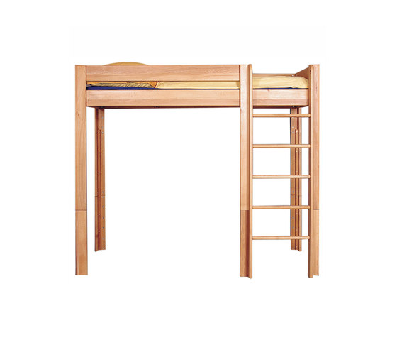 lit enfant mezzanine en bois massif 182 cm de breuyn. Black Bedroom Furniture Sets. Home Design Ideas