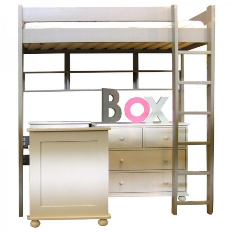 lit mezzanine enfant en bois massif dominique 209 cm mathy by bols. Black Bedroom Furniture Sets. Home Design Ideas