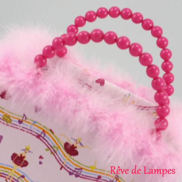 Lampe originale sac a main rose girly @Rêve de Lampes