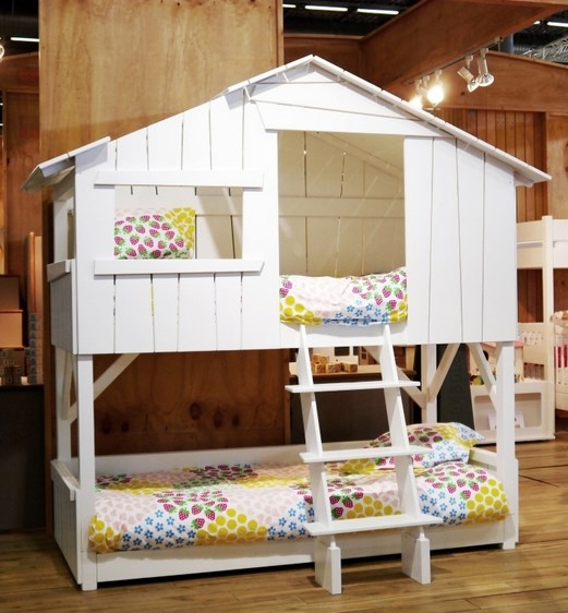 Lit enfant superpose cabane Mathy by Bols